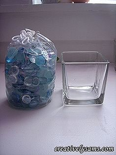 scatter candle tutorial, crafts, Basic Supplies needed glass flat backed scatter gems a glass container