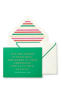kate spade new york 'jingle in your bell' holiday cards (10-Pack) available at #Nordstrom
