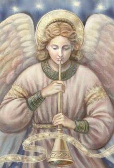 Ángel que celebra el nacimiento de Cristo.