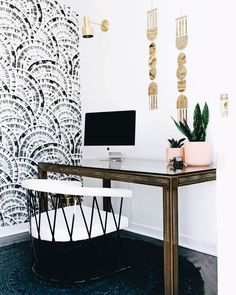 Patterned wallpaper adds a great texture to a room.