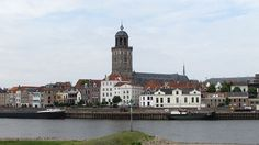Deventer is a municipality and city in the Salland region of the Dutch province of Overijssel (photo wikipedia) Holland Cities, Borneo, Homeland, Notre Dame, Places Ive Been, Dutch, Skyline, Mansions, House Styles