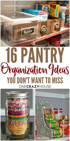 Pantry Organization Ideas That Your Kitchen Will Love Overwhelmed by the clutter in your pantry? Check out these organizations ideas that will help regain order and sanity. Kitchen Organization Pantry, Pantry Storage, Kitchen Pantry, Kitchen Storage, Diy Kitchen, Organized Pantry, Hidden Storage, Closet Storage, Storage Room