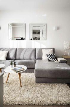 Reforma integral, amueblamiento e interiorismo de ático en Arapies. 68m2 Couch, Living Room, Furniture, Design, Home Decor, Scandinavian, Renovation, Salons, Space