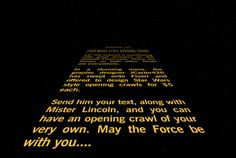make your Star Wars style Opening Crawl by jcarter426