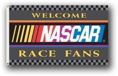Welcome NASCAR Fans 3x5 NASCAR Flag by BSI. $14.95. Show everyone that you are a die-hard fan by hanging up this 3-foot x 5-foot NFL flag. This officially licensed flag is made of durable, 100% polyester and is designed with 2 heavy-duty metal grommets so it is easy to hang. This high-quality flag is decorated in the team colors and proudly displays the official team graphics in the center.