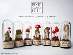 Fairy Specimen Under Glass  No01812  with by PixieHillStudio, $20.00