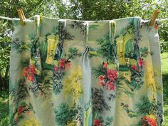 barkcloth curtains 4 panels 2 pair 48 inches by rivertownvintage, $250.00