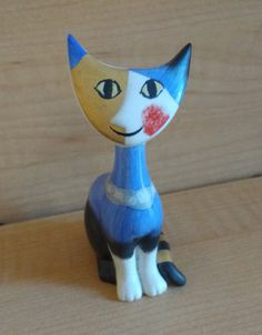 Geobel Abstract Cat Figure Statue Rosina Wachtmeister Goebel Porcelain  Picasso Style by suburbantreasure on Etsy