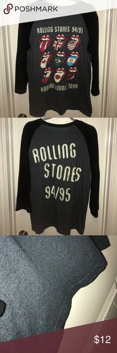Rolling Stones Baseball Tee Light pillage on rear the Rolling Stones Tops Tees - Long Sleeve