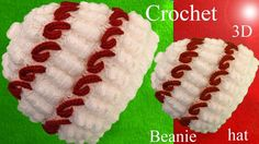 Gorro a Crochet en punto 3D terroncitos de azúcar y bastoncitos tejido t...