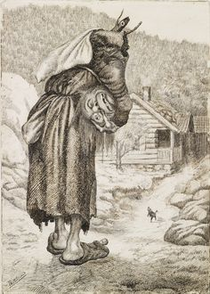 The Book of Worlds: Featured Artist: Theodor Kittelsen Most Popular Artists, Great Artists, Theodore Kittelsen, Original Fairy Tales, Trolls, Sea Serpent, Nature Paintings, Pictures To Paint, Dark Art