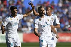 Benzema is baaackk with a Gooooaall!!❤ Laliga 2017-18 #RMvsGetafe He has now scored as many goals for Rma (182) as Paco Gento joint 7th on the club's all-time list...