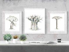 African Babies, Baobab Tree, Insect Art, Tree Wall Art, Nature Prints, Tree Print, Printable Art, Digital Prints, Dream Mansion