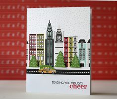 Holiday Cheer Card by Laura Bassen for Papertrey Ink (October 2013)