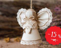 Burlap Angel Gift for Him Wedding Decor Rustic Home by MaliLili