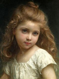 Portrait of a Young Girl by Jules-Cyrille Cavé (1859 – 1940, French)