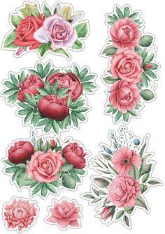 Roses_стили и странички для скрапа's photos – 864 photos | VK Tumblr Stickers, Free Stickers, Printable Paper, Printable Stickers, Planner Stickers, Scrapbook Stickers, Vintage Paper, Digi Stamps, 3d Cuts