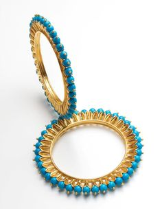 Manish Arora @Amrapali Jewels collection Candy Orb Turquoise bangles (13,000 INR).