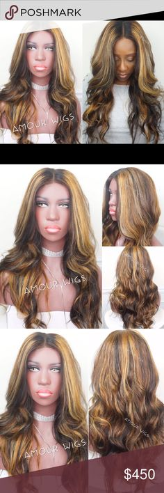 Brazilian Wave Blonde Highlights Lace Closure Wig Brazilian Body Wave Blonde Highlights Lace Closure Custom Wig | Styled Round Layers | 100% Brazilian Body Wave Hair | 16 inch Lace Closure (Non-Customized) | 3 Bundles of Brazilian Body Wave 16/18/20 inches | Blonde Highlights & Natural Black Custom Color | 