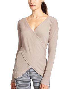 Reversible cashmere wrap sweater - Athleta