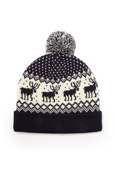 Mixed Print Pom Beanie | 21 MEN - 2000066868