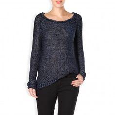 LE LIS BLANC DEUX LARI Blusa de tricot metalizada
