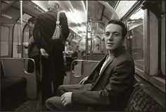 """""""In 1981 I happened to see Joe Strummer – he was the singer for the punk rock band The Clash – on the tube. I saw him sitting on the other side of the seat, but I thought he was too private – he might get too angry – but I was trying to be brave, I went up to him and asked him 'may I take a picture of you.' he smiled and said 'yes', and I clicked several shots.  Just before he got off the train he said to me, 'You should take photos of whatever you want. That's punk.'"""""""