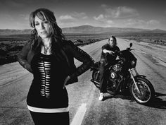 Katy Sagal-Gemma in sons of anarchy-she is so awesome. I love the part she plays; gemma is to me a strong woman, she doesnt take any shit!