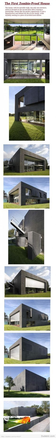 {Zombie-Proof House} Fanfuckingtasticly cool!!