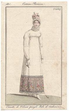 Narrow ruff. 1815. Costume parisien.