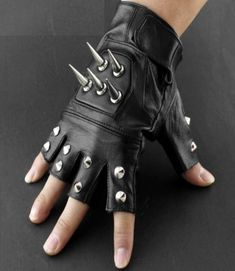 Biker Leather, Leather Gloves, Leather Men, Tattoo Arm Designs, Punk Looks, Mens Gloves, Arm Tattoo, Fingerless Gloves, Rock
