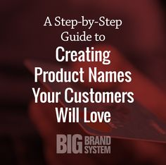 The right product name can sell for you! Here's Your Step-by-Step Guide to Creating Product Names Your Customers Will Love. (Click for your personal guide)
