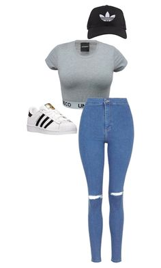 """""""./../.././/..//."""" by anna-mae-equils on Polyvore featuring Topshop, adidas, women's clothing, women, female, woman, misses and juniors"""