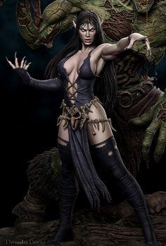 Fantasy Art Women, Dark Fantasy Art, Fantasy Girl, Fantasy Artwork, Fantasy Witch, Fantasy Female Warrior, Witch Art, Warrior Women, Fantasy Characters