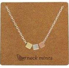 Fabienne Neck Mints Brushed Triple Cubes Necklace – The Tangerine Fox