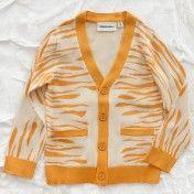 mini rodini orange zebra cardigan