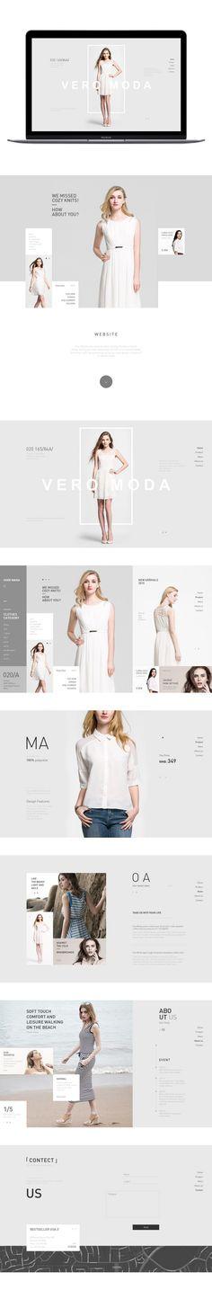 原创作品:高端女装页面练习
