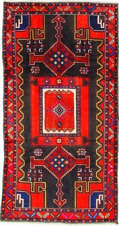 Antique Hamedan Persian Rug