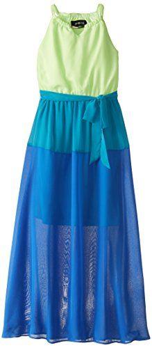 Amy Byer Big Girls' Colorblock Maxi Dress, Green/Blue, 16 Amy Byer http://smile.amazon.com/dp/B00QN9X8MY/ref=cm_sw_r_pi_dp_swSHvb0F0Q494
