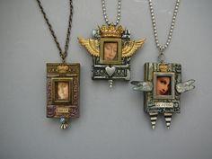 Laurie Mika-ReliquariesReliquary Jewelry, Encasement Glasses, Polyclay Pendants…