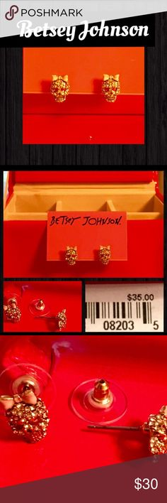 Betsey JohnsonIonic Collection Skull Stud Betsey JohnsonIonic CollectionSkull EarringsCrystal Skull Studs Sweet,sparkly pave crystal skullspretty pink bows Lever-back closure. Silver-plated base metalNWTTradesBundlePlease use offer button via all offersThank You Betsey Johnson Jewelry Earrings