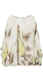 Diane von Furstenberg Robyn printed silk-chiffon top