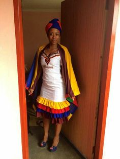 South African Traditional Dresses, African Traditional Wedding, Traditional Wedding Dresses, Traditional Fashion, Traditional Outfits, African Print Dresses, African Print Fashion, African Fashion Dresses, African Dress