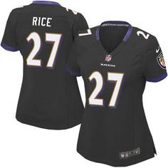 Nike NFL Baltimore Ravens 27 Ray Rice Limited Women Black Alternate Jersey Sale