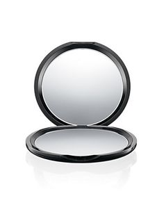 A Gift for the #Selfie Promoter... A slim, glossy MAC black round compact featuring two mirrors. One side magnifies for close-ups, the other provides a standard true-to-life image. Shop today! Free shipping through 12/22/15.