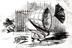 A sketch during the recent gale. Punch (20 December 1856): 250.