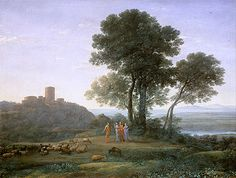 Claude Lorrain Paintings | ... Laban and his Daughters, 1676 | Claude Lorrain | Painting Reproduction