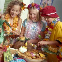 Aloha! Hawaiian themed birthday party for Angelina (by our pool :)