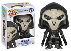 * From Overwatch, Reaper, as a stylized POP vinyl from Funko!* Stylized collectible stands nearly 10 cm tall, perfect for any Overwatch fan! * Collect and display all Overwatch POP! Overwatch Tracer, Overwatch Pop Vinyl, Chibi Overwatch, Overwatch Memes, Pop Vinyl Figures, Faucheur Overwatch, Overwatch Action Figures, Pop Disney, Geek Decor