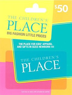 [$40 save 20%] Amazon #LightningDeal 74% claimed: The Childrens Place $50 Gift Card #LavaHot http://www.lavahotdeals.com/us/cheap/amazon-lightningdeal-74-claimed-childrens-place-50-gift/151808?utm_source=pinterest&utm_medium=rss&utm_campaign=at_lavahotdealsus
